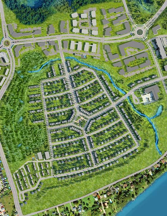 Map - Projet Urbanova - Maisons écoresponsables neuves à vendre à Lanaudière