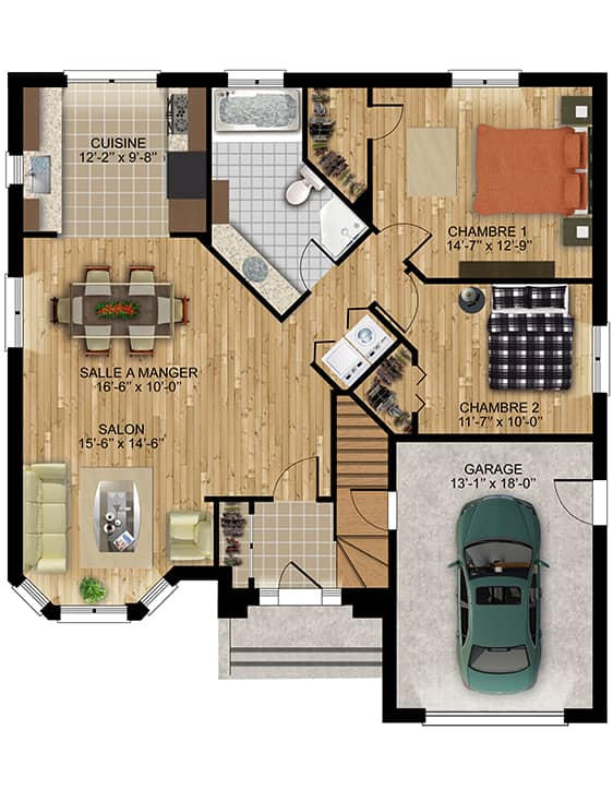 Modèle Camille - Nos Plans - Maisons écoresponsables neuves à vendre à Lanaudière