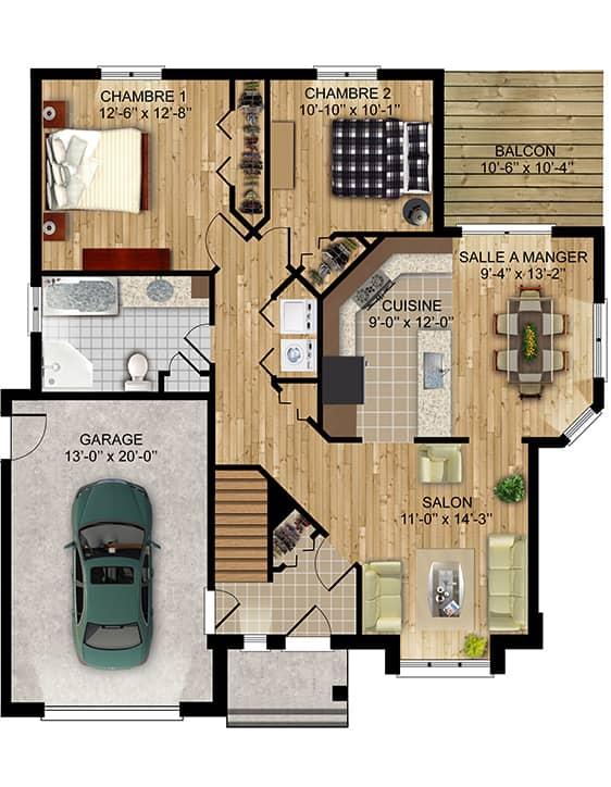 Modèle Christianne - Nos Plans - Maisons de ville neuves en vente à Lanaudière