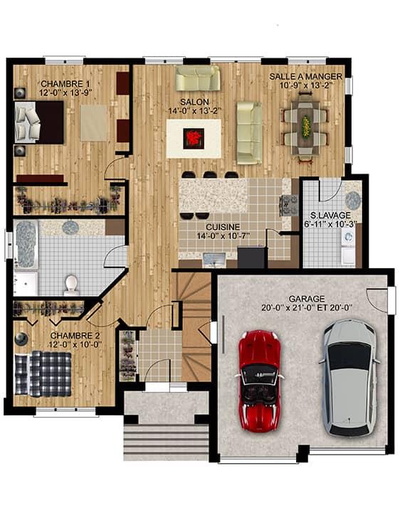 Modèle Europa - Nos Plans - Maisons de ville neuves en vente à Lanaudière