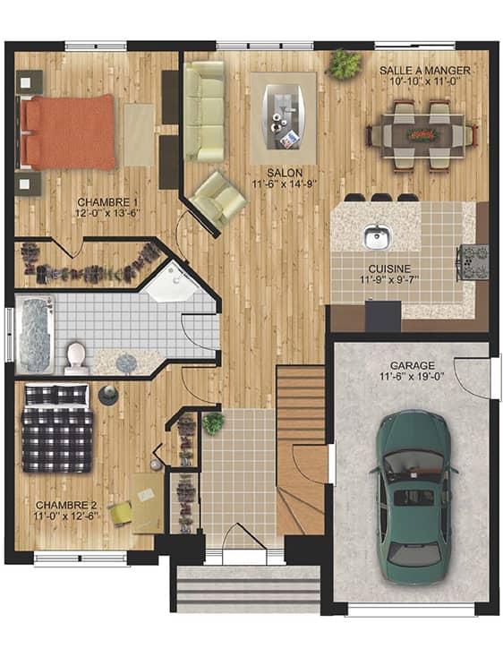 Modèle Izumi - Nos Plans - Maisons de ville neuves en vente à Terrebonne