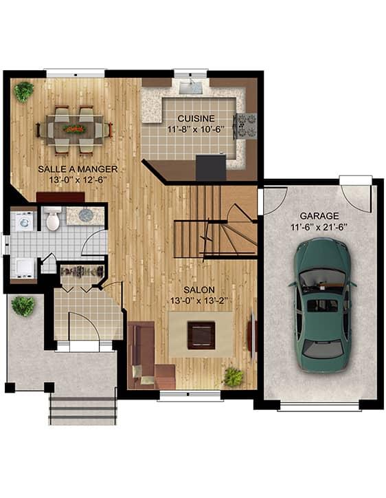 Nos plans - Modèle Alsace - Maisons neuves en vente à Lanaudière