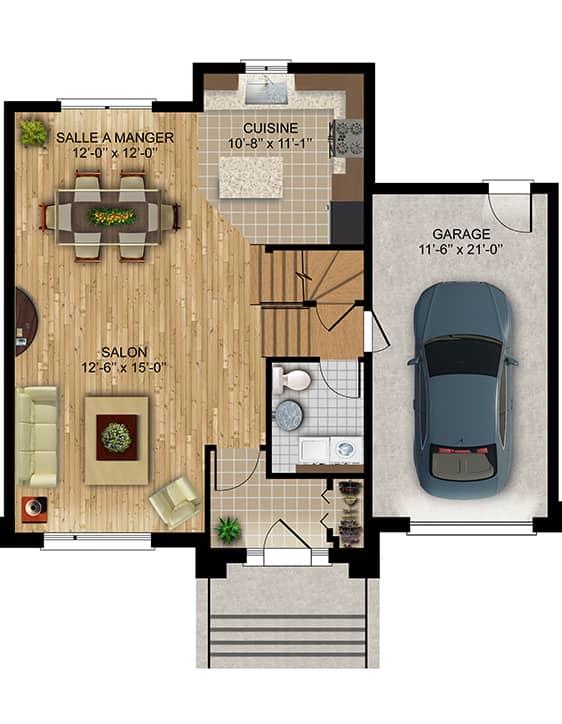 Nos Plans - Amélie - Maisons écoresponsables neuves a vendre à Terrebonne