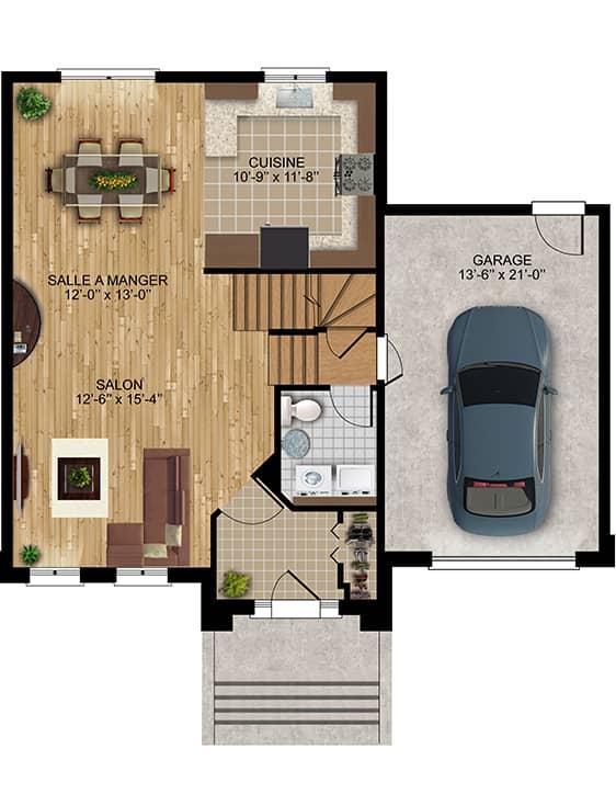 Nos Plans - Chamonix - Maisons écoresponsables neuves à vendre à Terrebonne