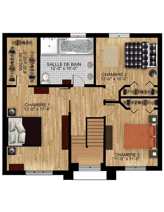 Nos plans - Modèle Édena - Maisons neuves à vendre en Montérégie