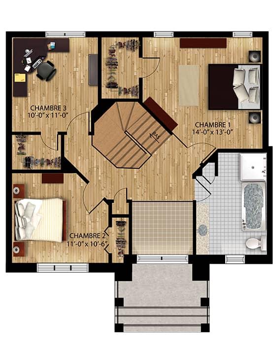 Plan Modèle Édena - Maisons neuves à vendre à Carignan
