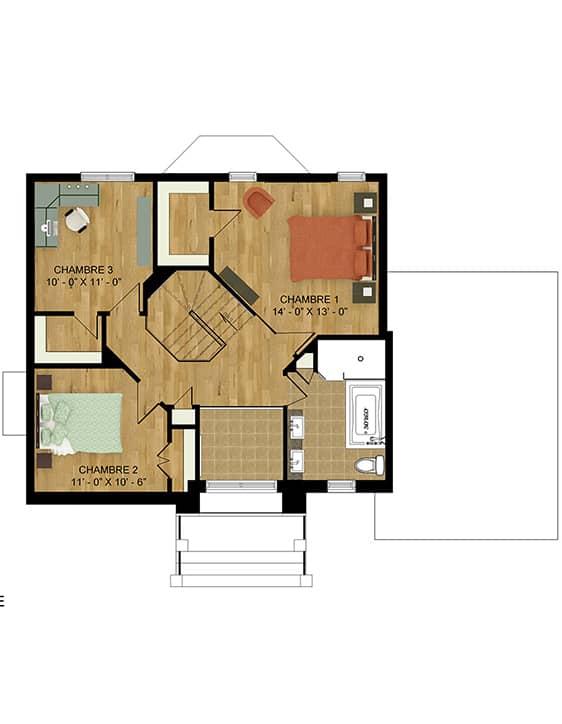 Plan modèle Édena - Maisons neuves en vente à Lanaudière