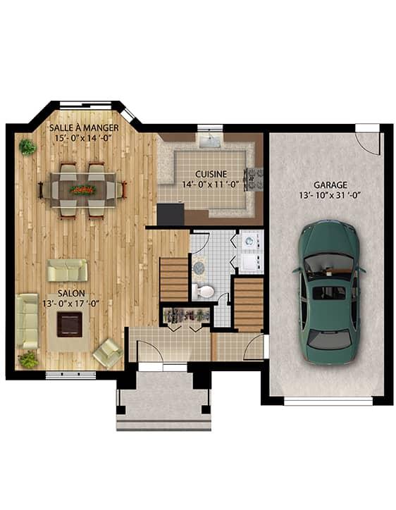 Plan Modèle Édena - Maisons neuves à vendre à Lanaudière