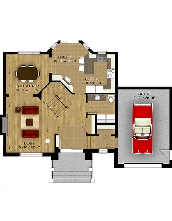 Plan Modèle Édena - Maisons neuves en vente à Terrebonne