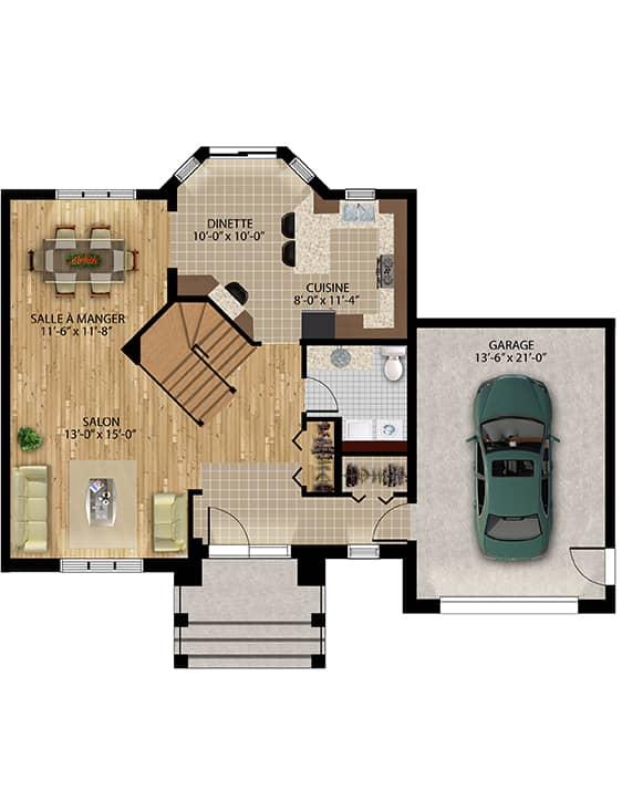 Plan modèle Édena - Maisons neuves à vendre à Terrebonne