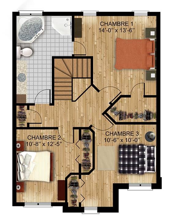 Modèle Jasmine - Nos Plans - Maisons de ville neuves en vente à Terrebonne