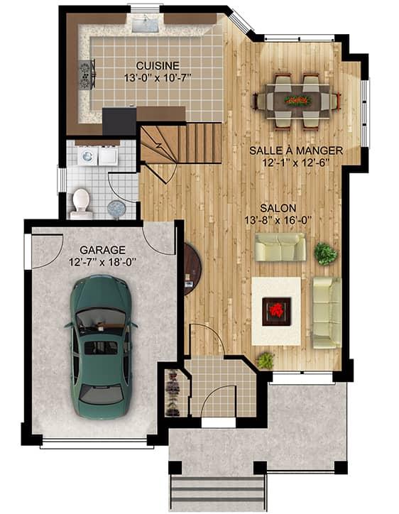 Modèle Jasmine - Nos Plans - Maisons écoresponsables neuves à vendre à Terrebonne
