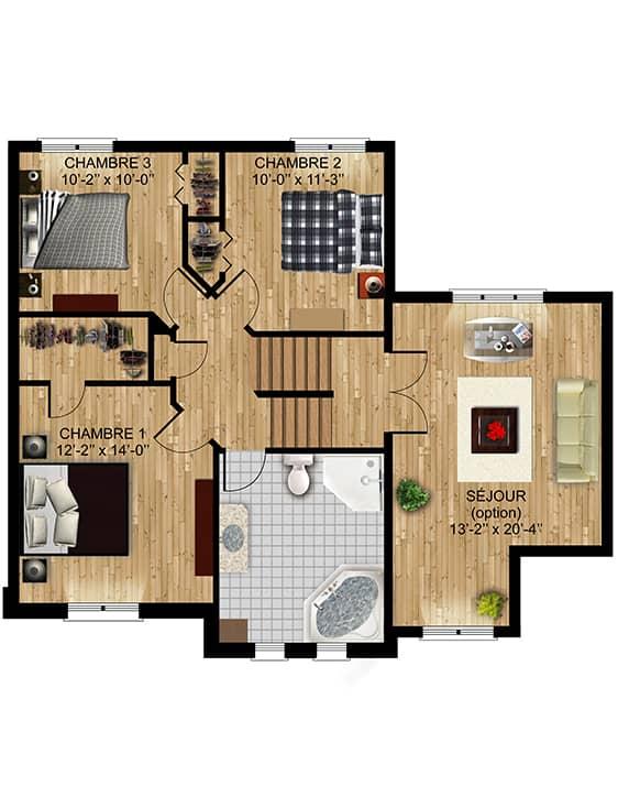 Modèle Luxembourg - Nos Plans - Maisons de ville neuves à vendre à Lanaudière