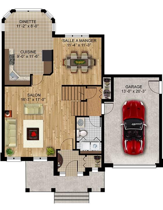 Modèle Luxembourg - Nos Plans - Maisons écoresponsables neuves à vendre à Terrebonne