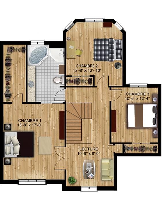 Modèle Monaco - Nos Plans - Maisons écoresponsables neuves en vente à Lanaudière