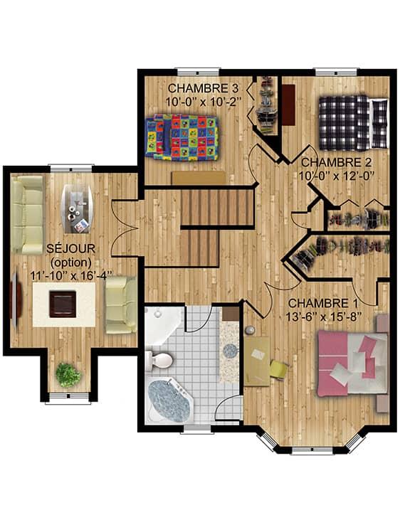 Modèle Naomie - Maisons de ville neuves en vente à Terrebonne