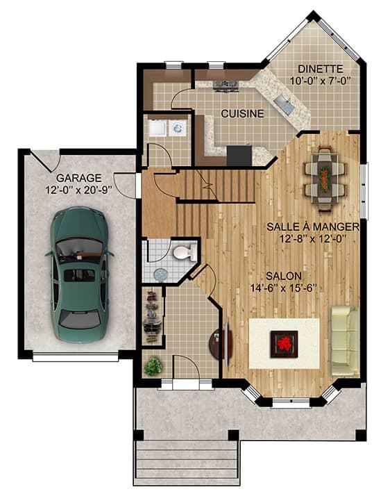 Modèle Naomie - Maisons écoresponsables neuves à vendre à Terrebonne