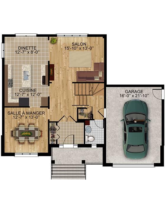 Modèle Provence - Nos Plans - Maisons écoresponsables neuves à vendre à Terrebonne