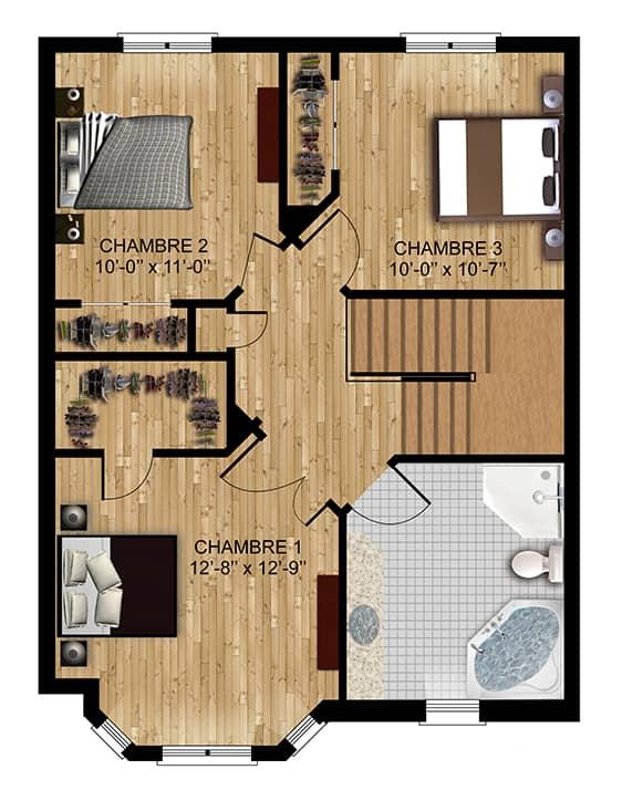 Modèle Rebelle - Nos Plans - Maisons de ville neuves en vente à Terrebonne