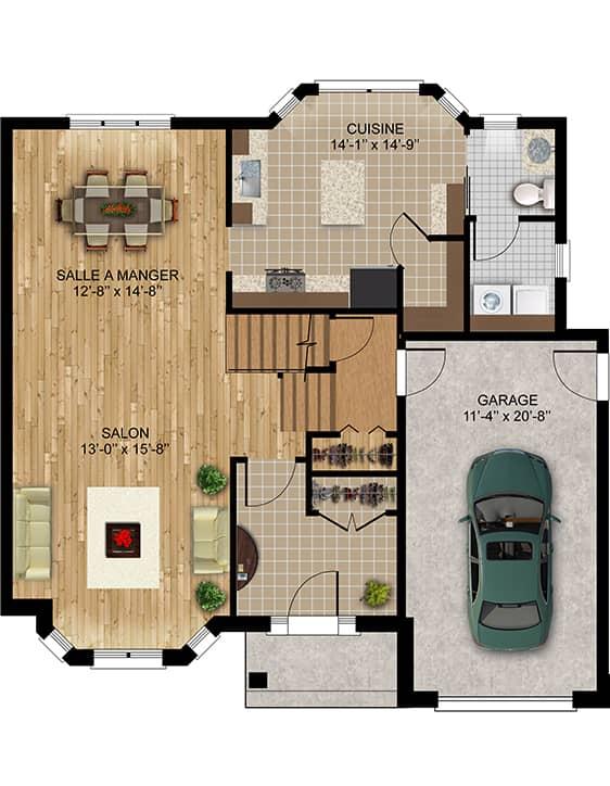 Modèle Rebelle - Nos Plans - Maisons de ville neuves à vendre à Lanaudière