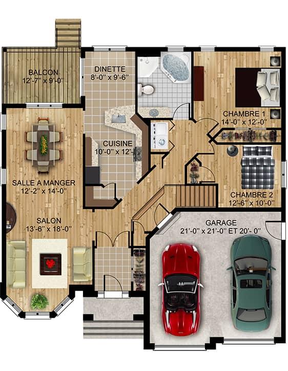 Modèle Royal2 - Nos Plans - Maisons écoresponsables neuves à vendre à Terrebonne