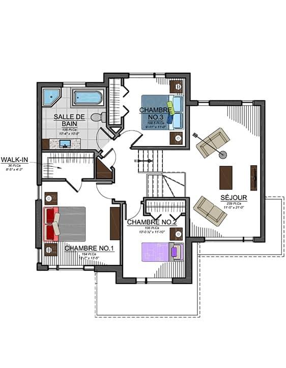 Modèle Urbanova C - Nos Plans - Maisons écoresponsables neuves en vente à Lanaudière
