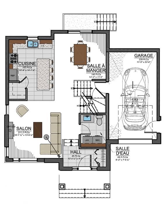 Modèle Urbanova C - Nos Plans - Maisons écoresponsables neuves à vendre à Terrebonne