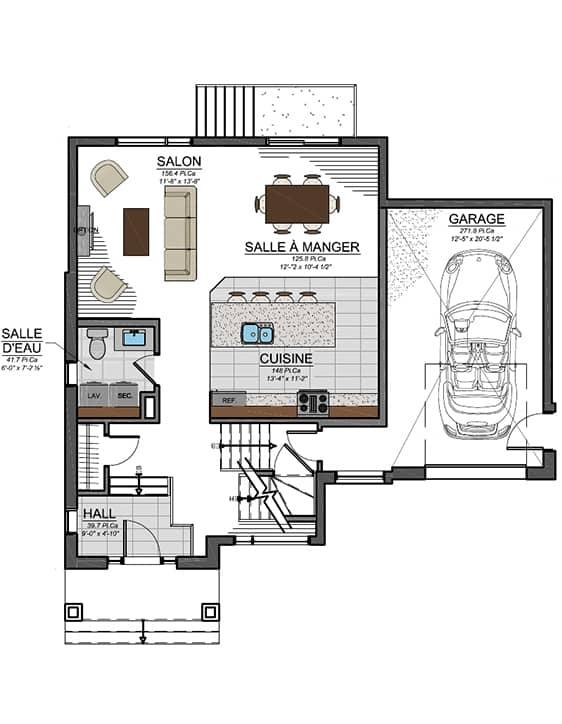 Urbanova D - Plans - Maisons de ville neuves à vendre à Lanaudière