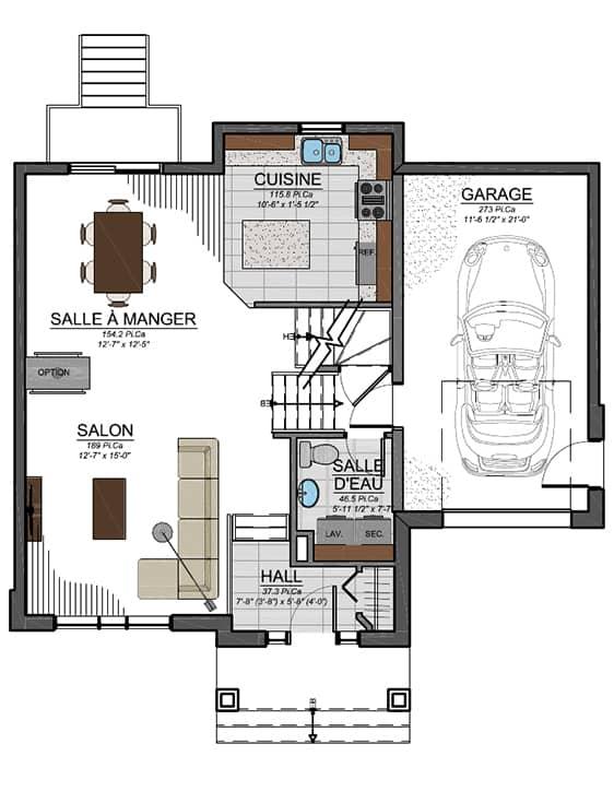 Urbanova E - Plans - Maisons neuves à vendre à Terrebonne