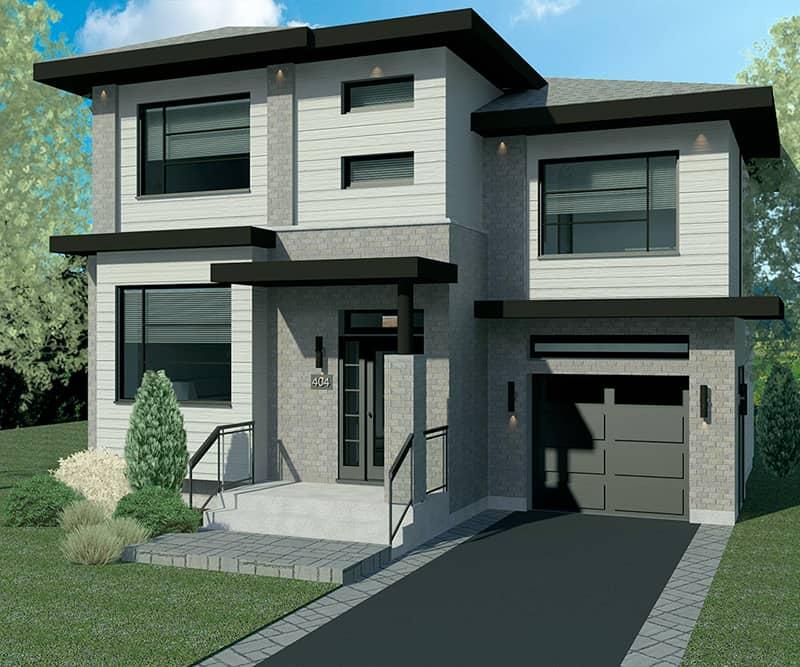 Modèle Urbanova F - Maisons de ville neuves à vendre à Terrebonne