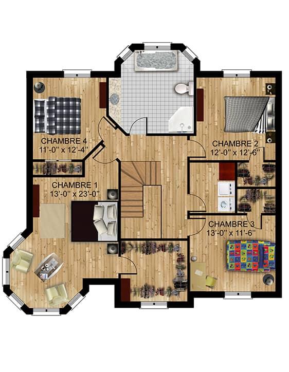 Modèle Versant2 - Nos Plans - Maisons écoresponsables neuves à vendre à Terrebonne