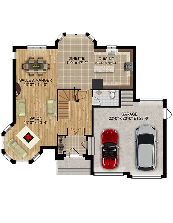 Modèle Versant2 - Nos Plans - Maisons écoresponsables neuves en vente à Terrebonne