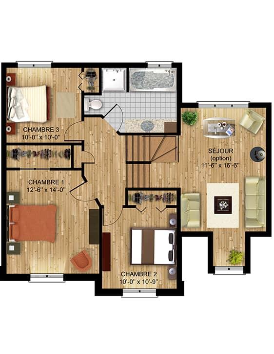 Nos Plans - Bordeau - Maisons écoresponsables neuves à vendre à Lanaudière