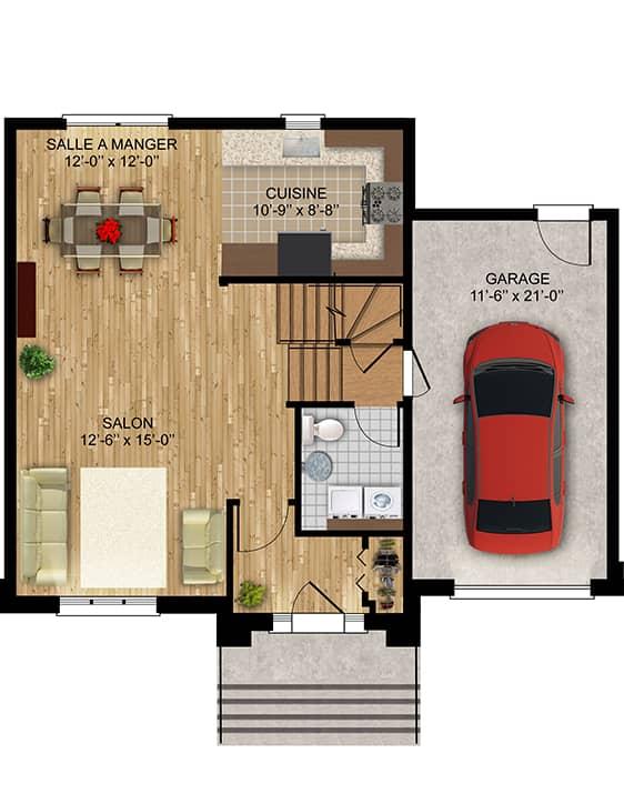 Nos plans - Bordeau - Maisons écoresponsables neuves à vendre à Terrebonne