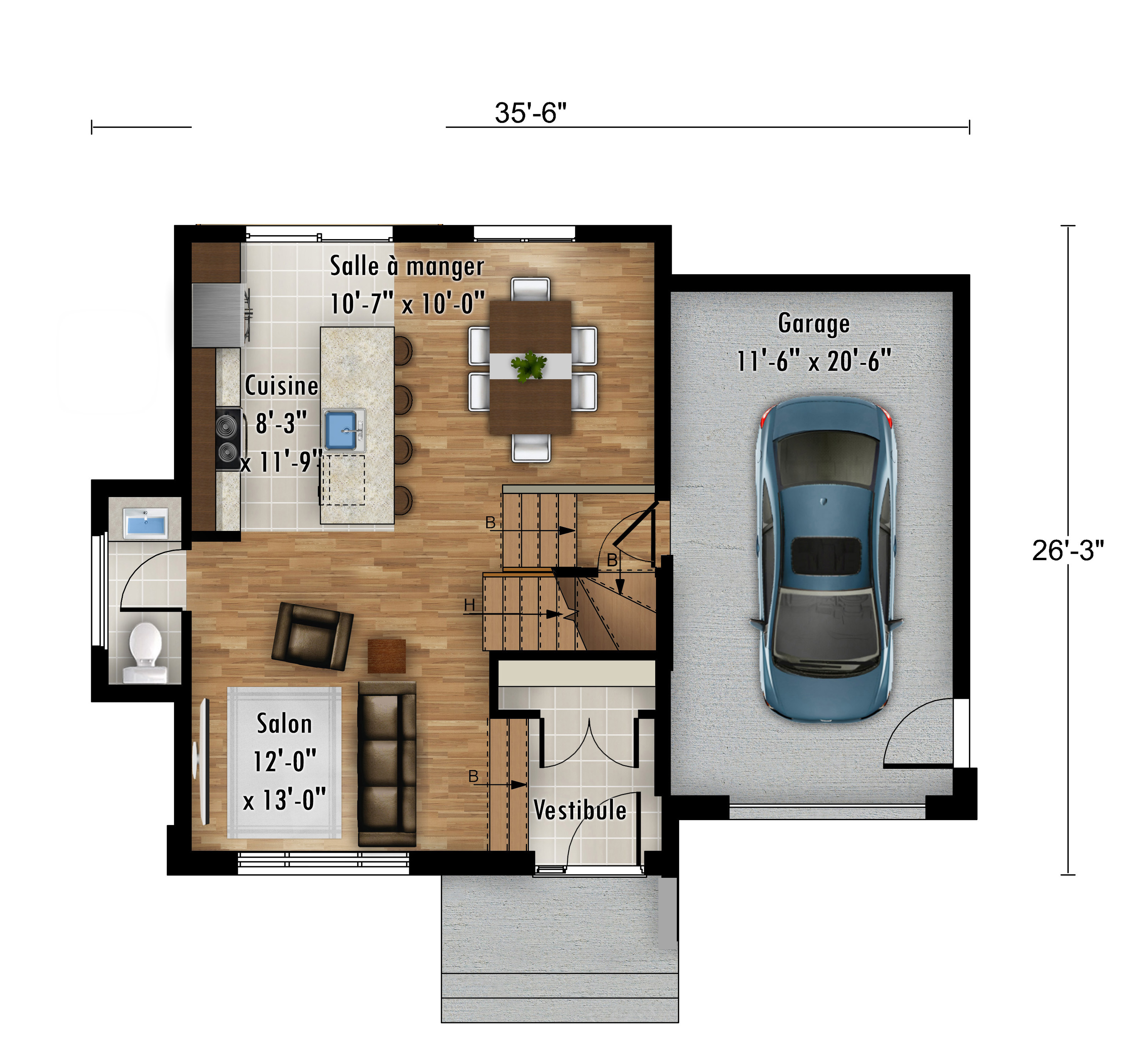 Urbanova I - Nos Plans - Maisons de ville neuves en vente a Lanaudiere