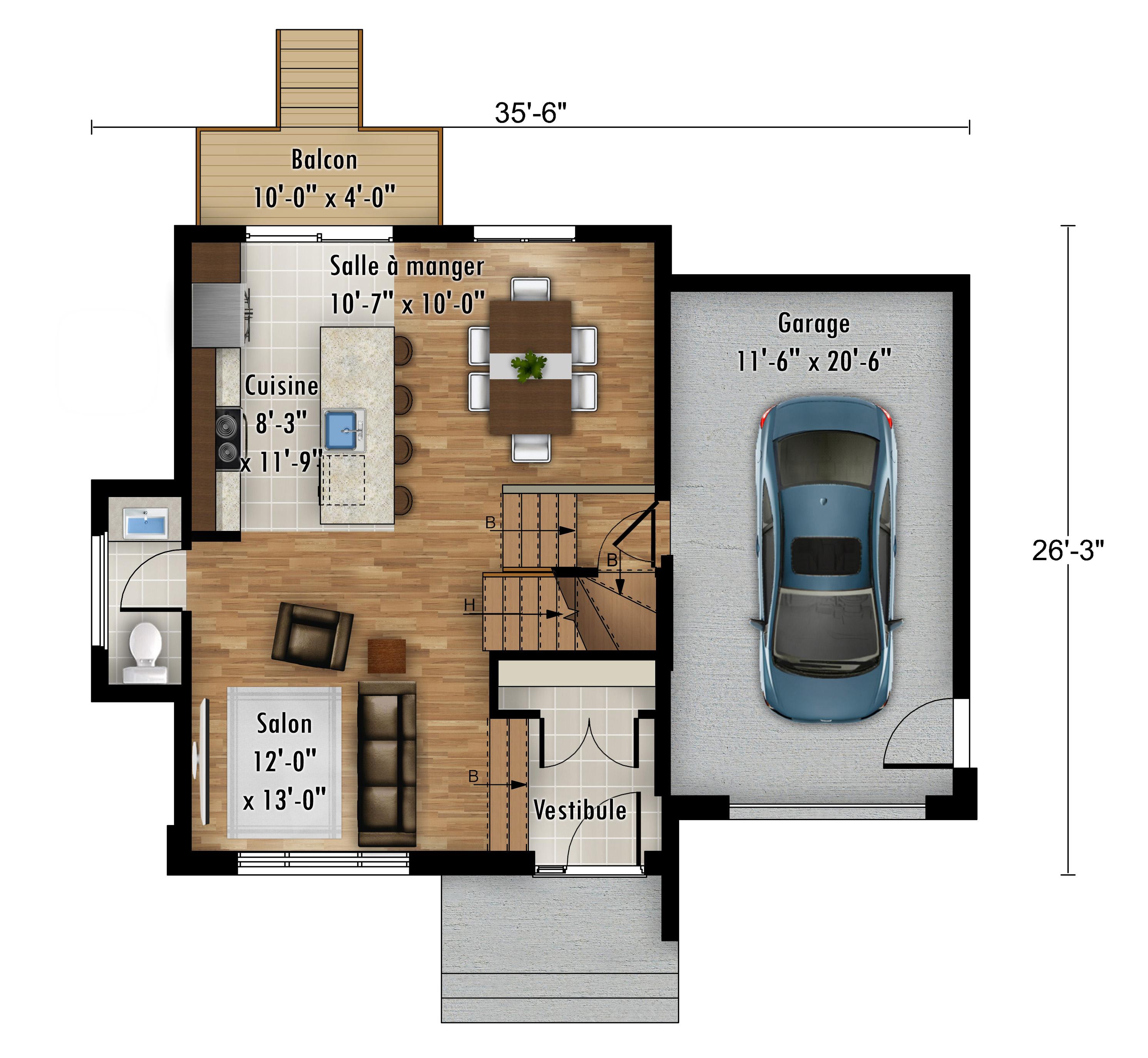 Plans La Tourterelle - Maisons neuves en vente à Carignan