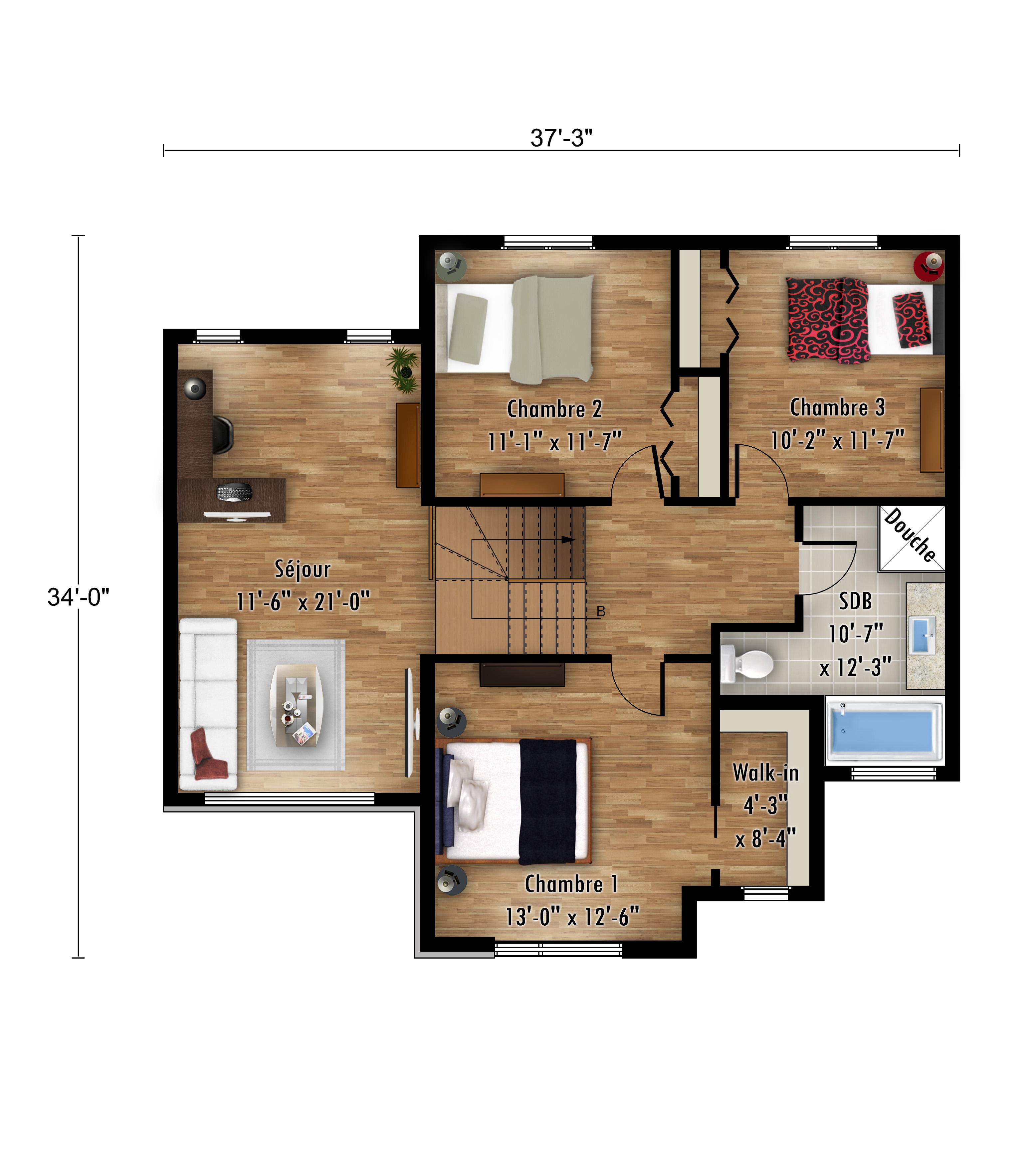 Le Cardinal étage - Rheault - Maisons neuves en vente a Lanaudière