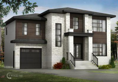 Le Passerin 3D - Nos Plans - Maisons écoresponsables neuves en vente à Lanaudière