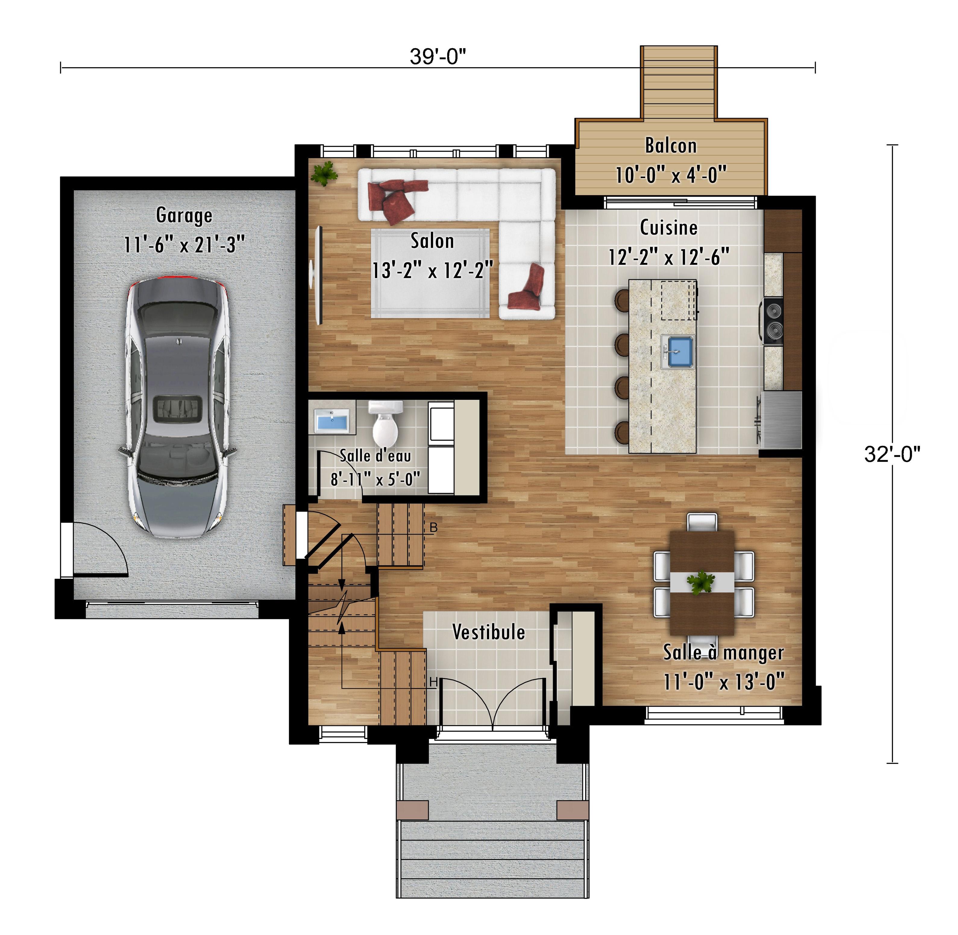 Le Passerin - Nos Plans - Maisons de ville neuves à vendre à Lanaudiere