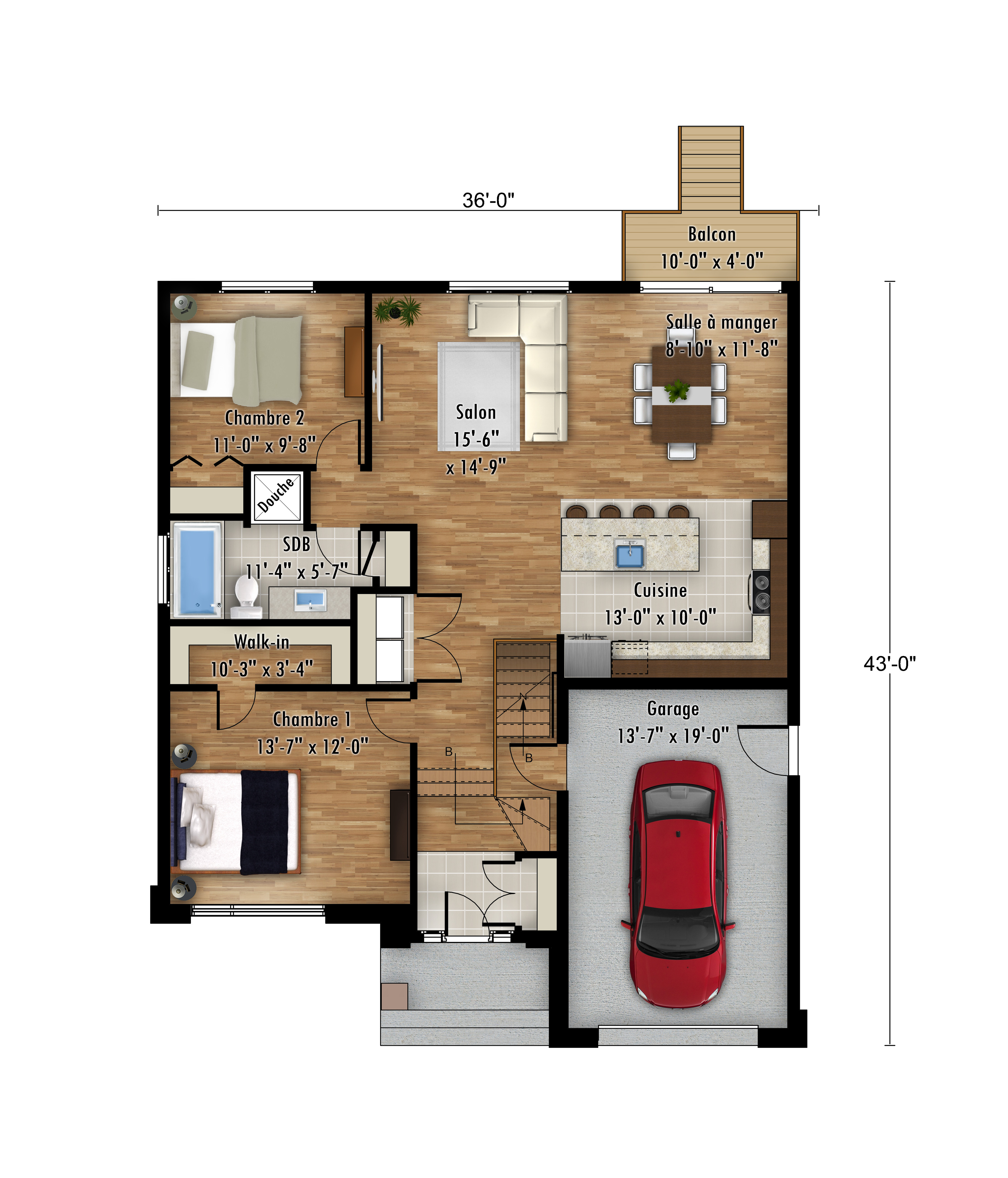 Plan modèle Pyranga - Maisons neuves à Lanaudière