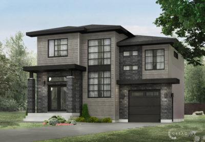 Le Sizerin 3D - Rheault - Maisons neuves à vendre a Terrebonne
