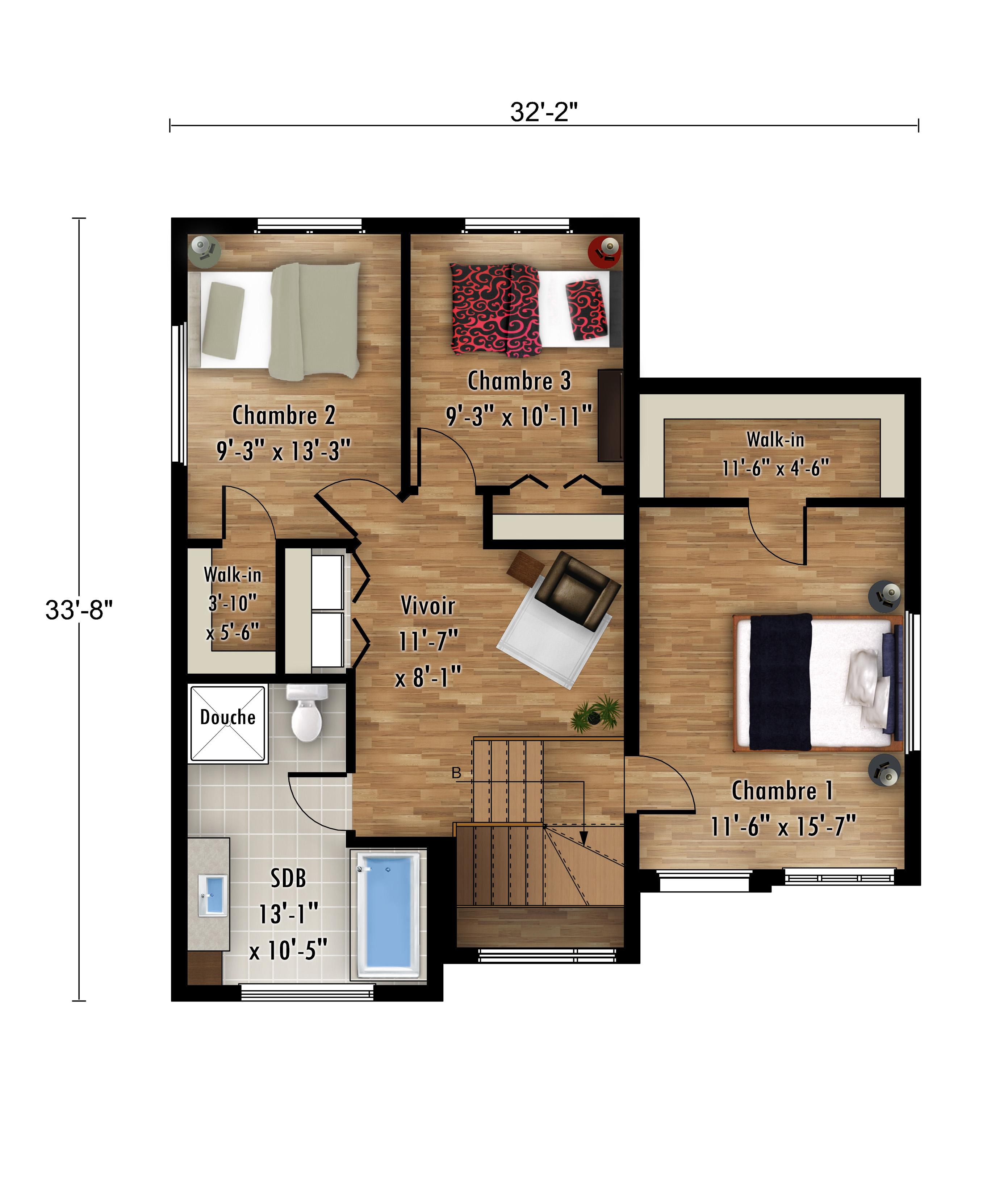 Le Sizerin Étage - Rheault - Maisons neuves à vendre a Terrebonne
