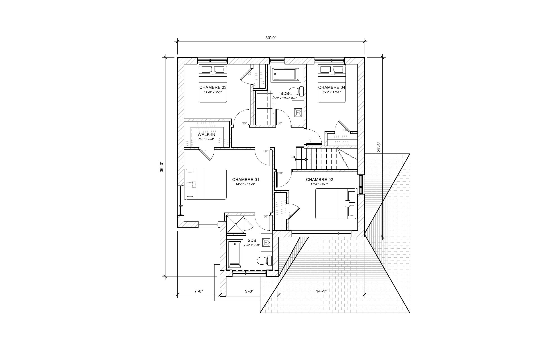 Maison Le Jaseur - Plan vente - Le Jaseur - Nouvelles maisons neuves - Construction Rheault - Mirabel