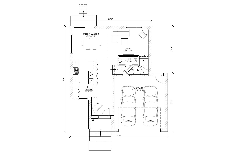 Maison Le Jaseur - Plan vente - Maison Le Jaseur - Plan vente - Étage B - Maisons neuves - Laurentides